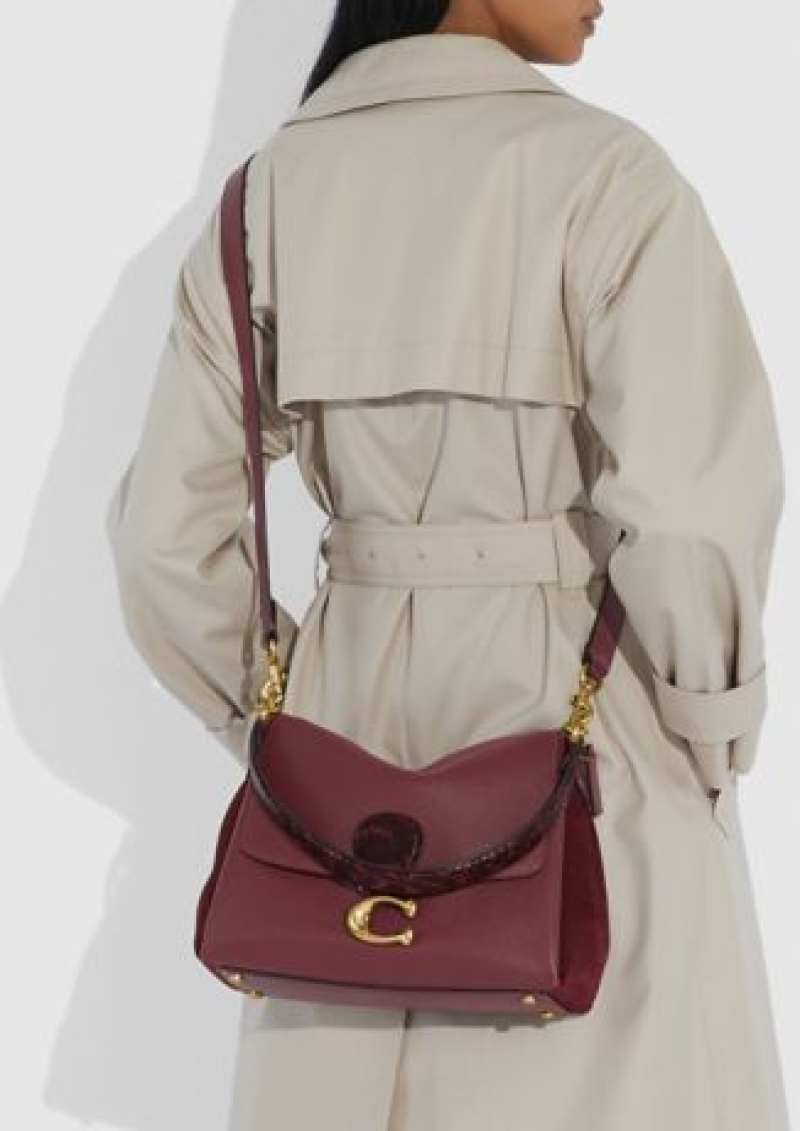 ihocon: COACH Mixed Leather with Snake Trim May Shoulder Bag 包包