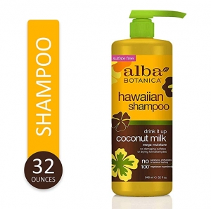 ihocon: Alba Botanica Drink It Up Coconut Milk Hawaiian Shampoo, 32 oz. 椰奶夏威夷洗髮精