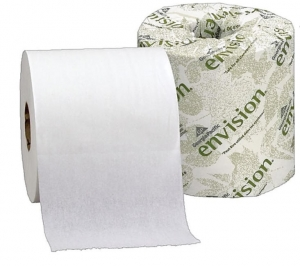 ihocon: Envision 1-Ply Inner Wrapped Embossed Toilet Paper by GP PRO, White, 550 Sheets/Roll, 80 Rolls/Case 廁所衛生紙
