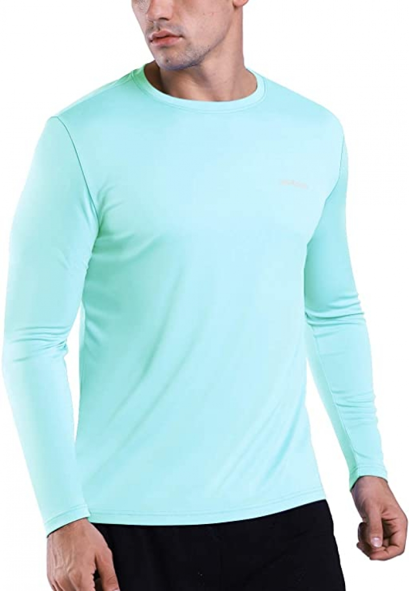 ihocon: HISKYWIN Men's UPF 50+ UV Sun Protection T-Shirt男士防曬長袖衫, Size M