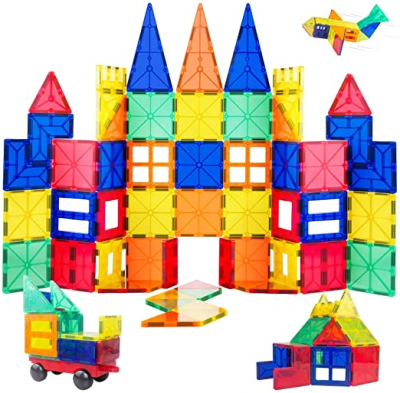 ihocon: ORRENTE Magnetic Building Blocks Set, 60 Piece 磁性積木