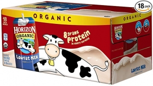ihocon: Horizon Organic 1 % Low Fat Milk, 8-Ounce Aseptic Cartons (Pack of 18) ​​ 有機低脂牛奶