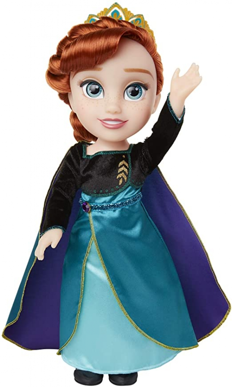 ihocon: Disney Frozen 2 Anna Doll Queen Anna, Ionic Outfit & Shoes, 14 Inches Tall 迪士尼冰雪奇緣娃娃
