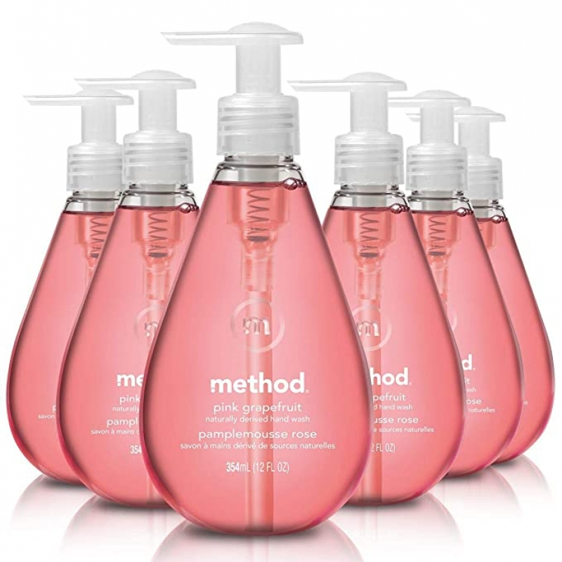 ihocon: Method Gel Hand Soap, Pink Grapefruit, 12 Fl Oz (Pack of 6)洗手液皂