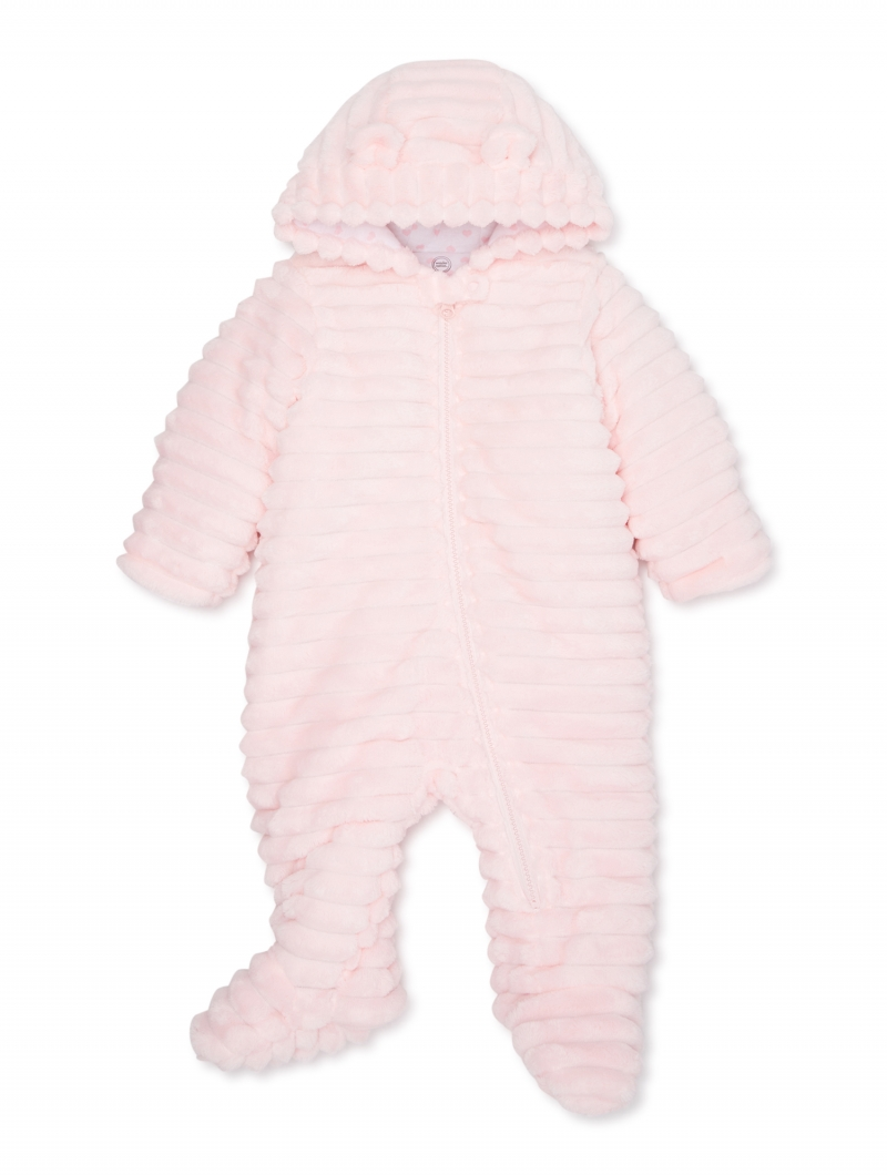 ihocon: Wonder Nation Baby Girl Plush Snowsuit Bunting Pram 嬰兒保暖衣