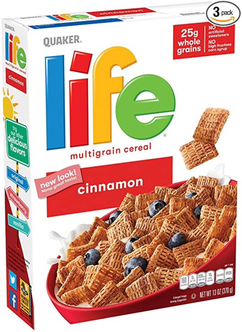ihocon: Life Breakfast Cereal, Cinnamon, 13oz Boxes (3 Pack)
