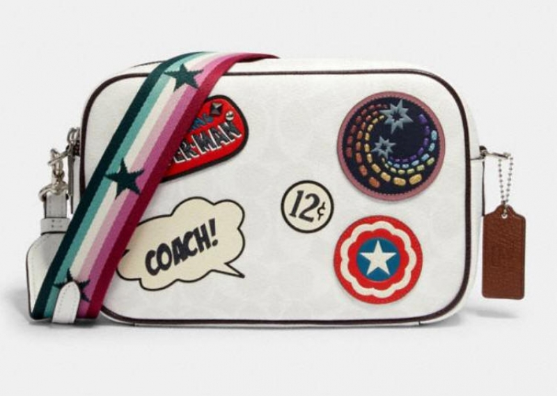 ihocon: coach marvel jes crossbody in signature canvas with patches 斜背包