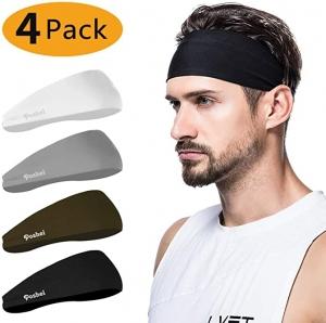 ihocon: poshei Mens Headband (4 Pack) 男士運動束髮帶