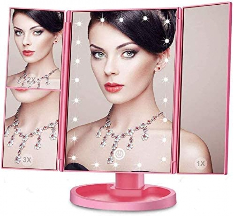 ihocon: Rovanal Makeup Mirror with Lights 21 Led Vanity Mirror with 2X/3X Magnification 帶燈化妝鏡
