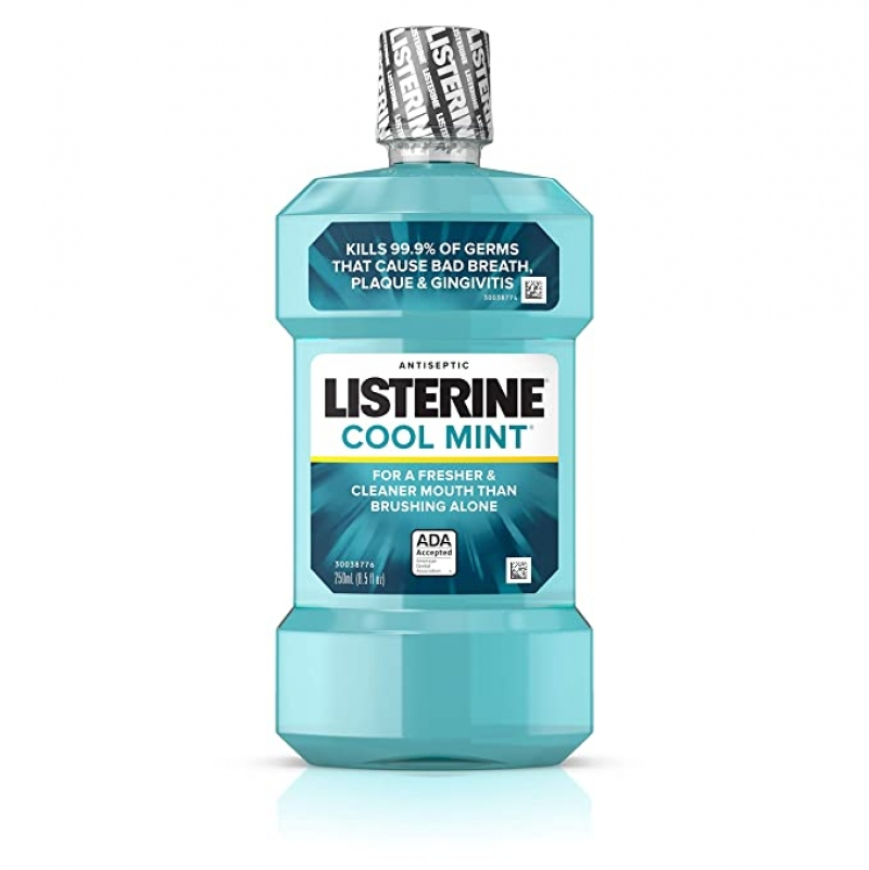 ihocon: Listerine Cool Mint Antiseptic Oral Care Mouthwash, 250 mL 漱口水