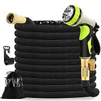 ihocon: Mahoon Expandable Garden Hose 100ft - Water hose with 9 Function Spray Nozzle伸縮澆花水管, 含噴水頭