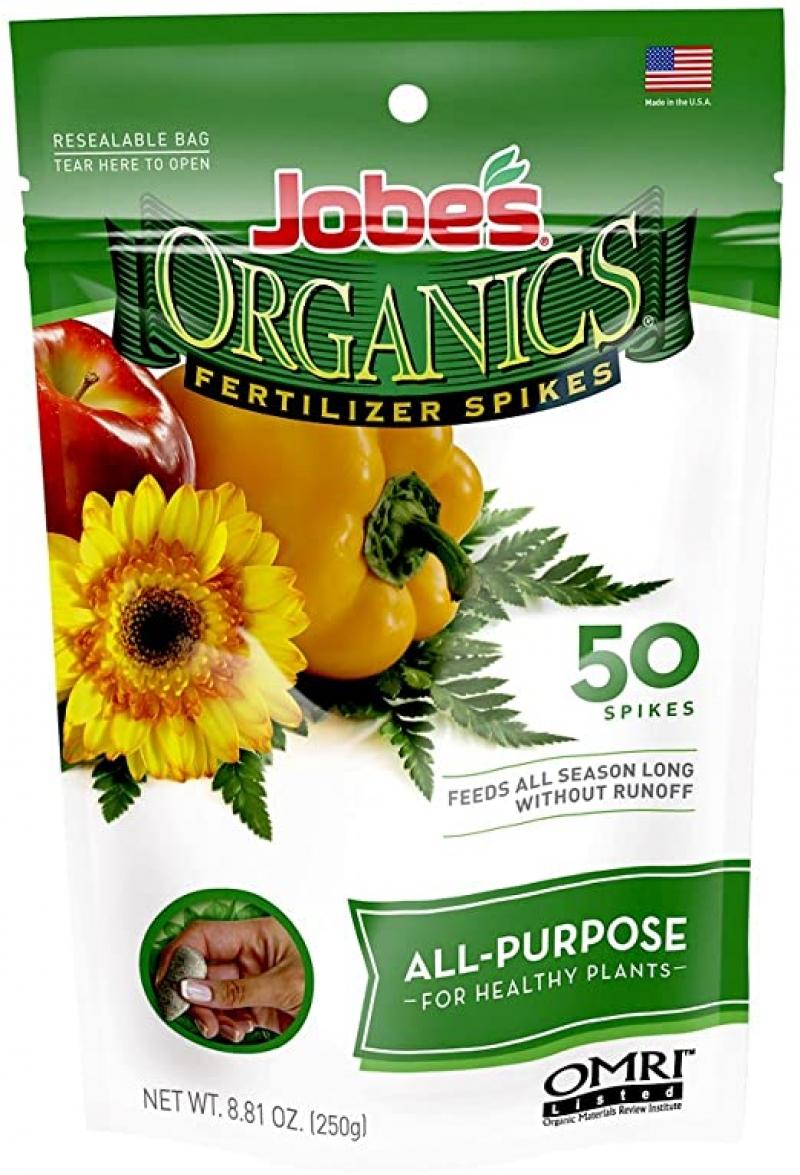 ihocon: Jobe's Organics All Purpose Fertilizer Spikes, 50 Spikes 萬用肥料棒