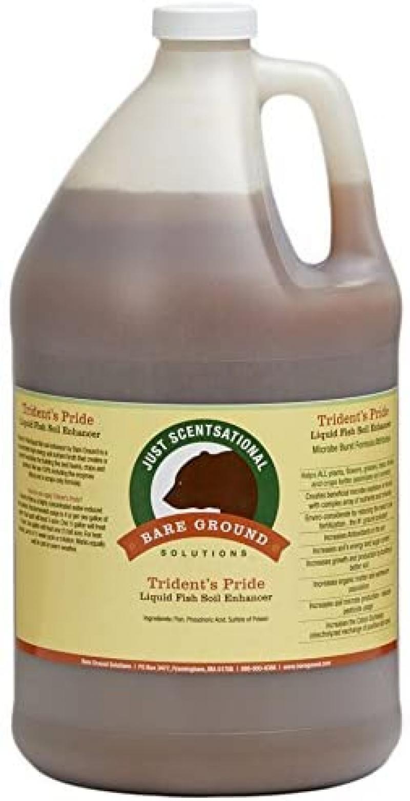 ihocon: Just Scentsational Trident's Pride Organic Liquid Fish Hydroponic Soil Fertilizer, 128 oz (1 Gallon) 有機魚肥