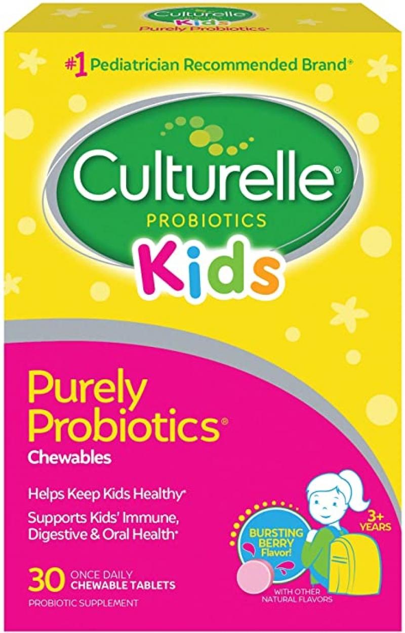 ihocon: Culturelle Kids Chewable Daily Probiotic for Kids, 30 count 兒童嚼式益生菌