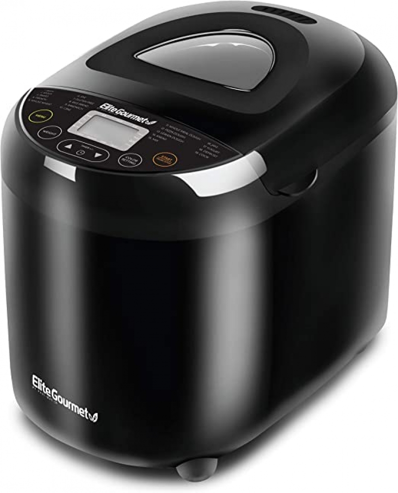 ihocon: Elite Gourmet Maxi-Matic EBM8103B Programmable Bread Maker Machine, 2 Lb 可自訂程序麵包機