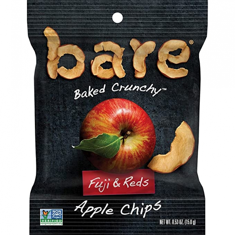 ihocon: bare Baked Crunchy Apple Fruit Snack Pack, 0.53oz Snack Bags (16 Pack) 蘋果脆片