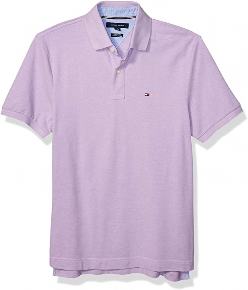 ihocon: Tommy Hilfiger Men's Short Sleeve Polo Shirt in Classic Fit 男士短袖衫