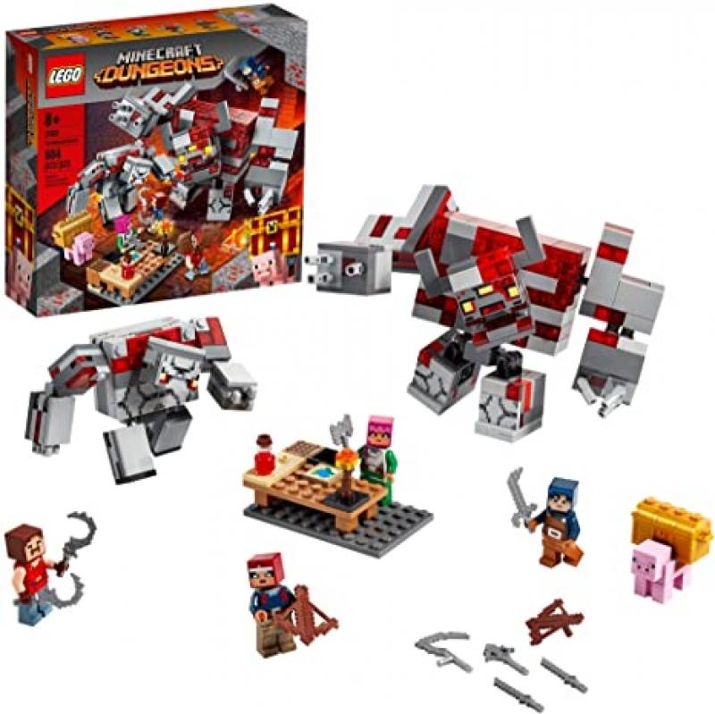 ihocon: 樂高積木LEGO Minecraft The Redstone Battle 21163 Cool Minecraft Set, New 2020 (504 Pieces)