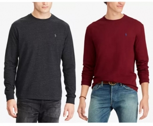 ihocon: Polo Ralph Lauren Men's Classic-Fit Long-Sleeve T-Shirt 男士長袖圓領套頭衫-多色可選