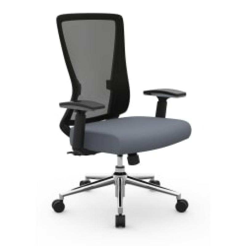 ihocon: Realspace Levari Faux Leather Mid-Back Task Chair 電腦椅/辦公椅