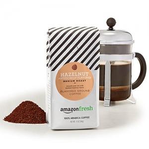 AmazonFresh Hazelnut Flavored 榛果口味烘培研磨咖啡 12oz $5.59免運(原價$7.99, 30% Off)