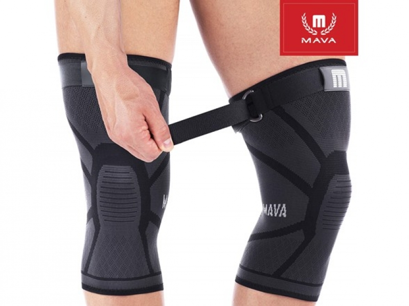 ihocon: [男, 女均適用] Mava Sports Knee Compression Support Sleeves with Adjustable Strap (Pair) 運動護膝