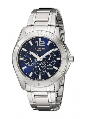 ihocon: Citizen Men's Stainless Steel Watch with Blue Dial 男錶