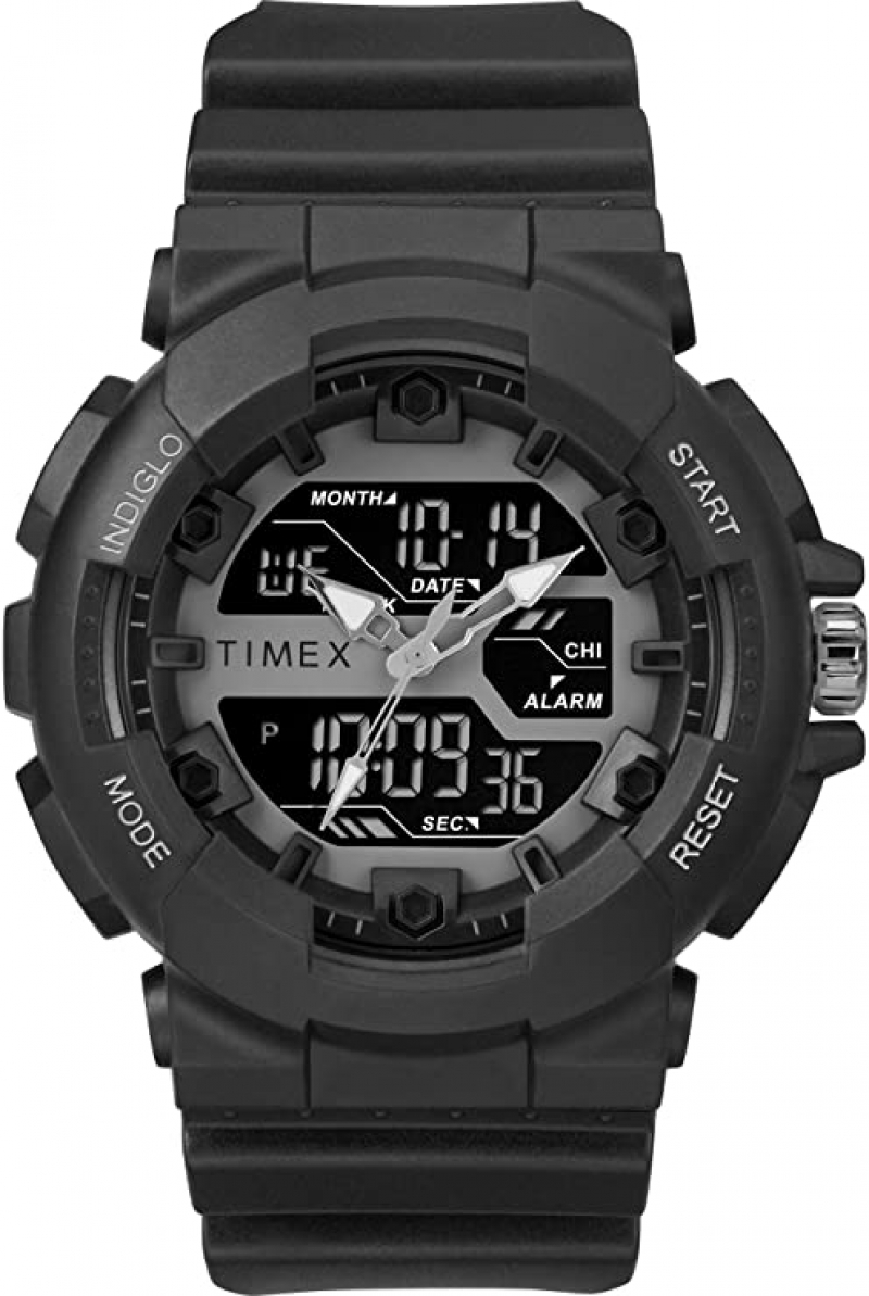 ihocon: Timex Men's TW5M22500 DGTL HQ Sporty Combo 50mm Watch 天美時運動男錶