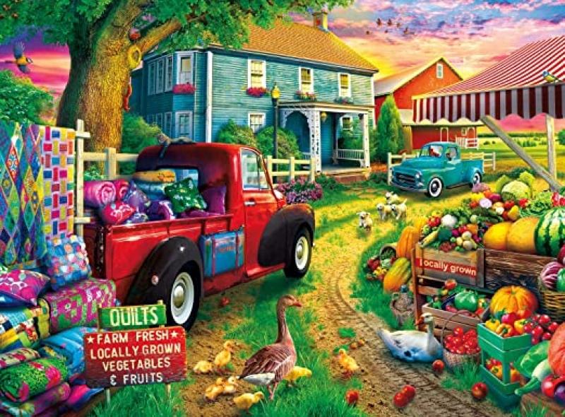 ihocon: Buffalo Games - Quilt Farm - 1000 Piece Jigsaw Puzzle 拼圖