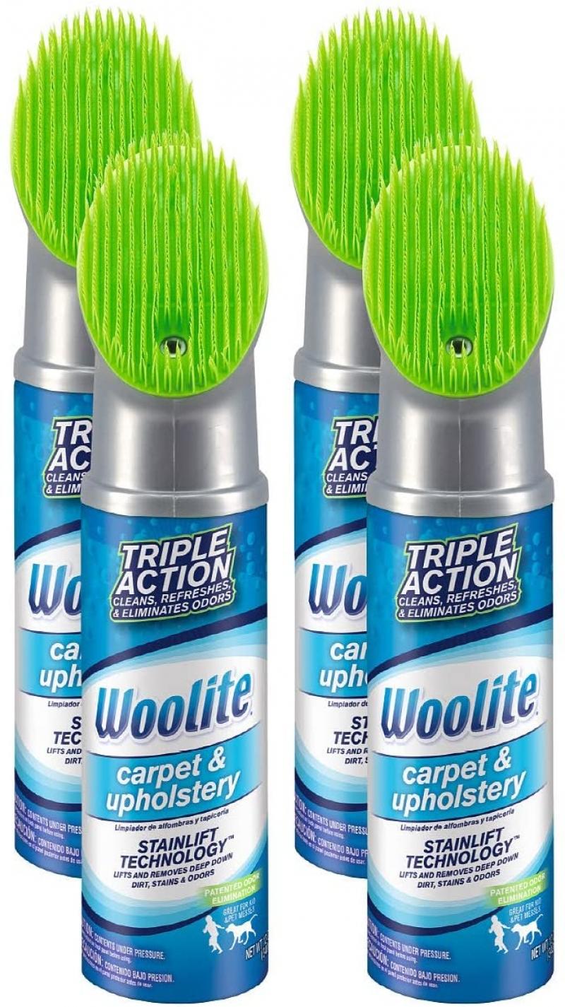 ihocon: Woolite Carpet and Upholstery Cleaner Stain Remover, 4 pack, 12 Oz each  地毯及室內裝潢清潔去污劑