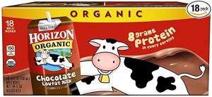 ihocon: Horizon Organic, Lowfat Organic Milk Box, Chocolate, 8  Fl. Oz (Pack of 18)低脂有機巧克力保久奶