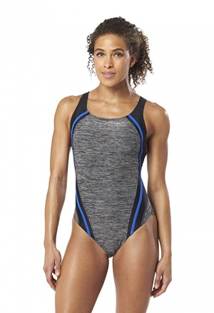 ihocon: Speedo Women's Heather Quantum Splice One Piece 女士泳衣 - 多色可選