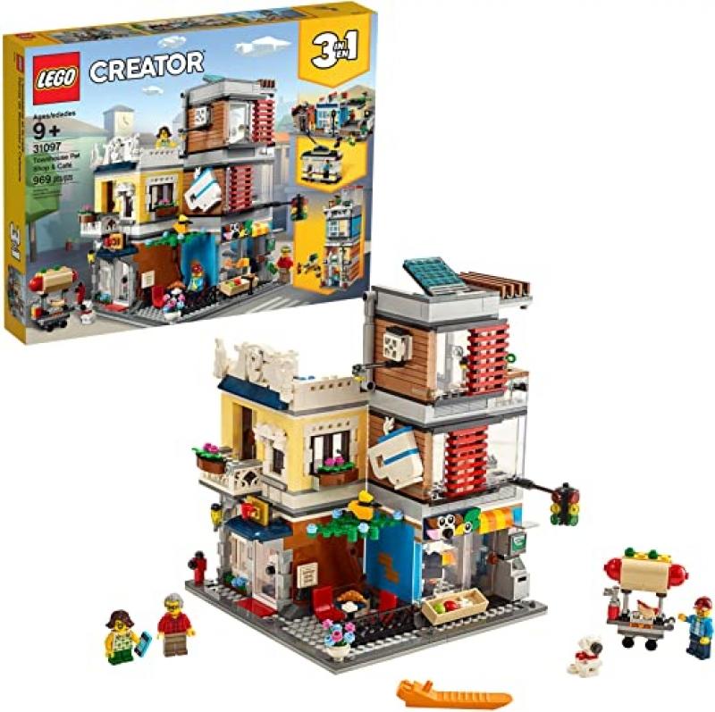 ihocon: LEGO Creator 3 in 1 Townhouse Pet Shop & Café 31097 Toy Store Building Set (969 Pieces)