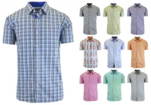 ihocon: GBH Mens Short Sleeve Dress Shirt 男士短袖襯衫 - 多色可選