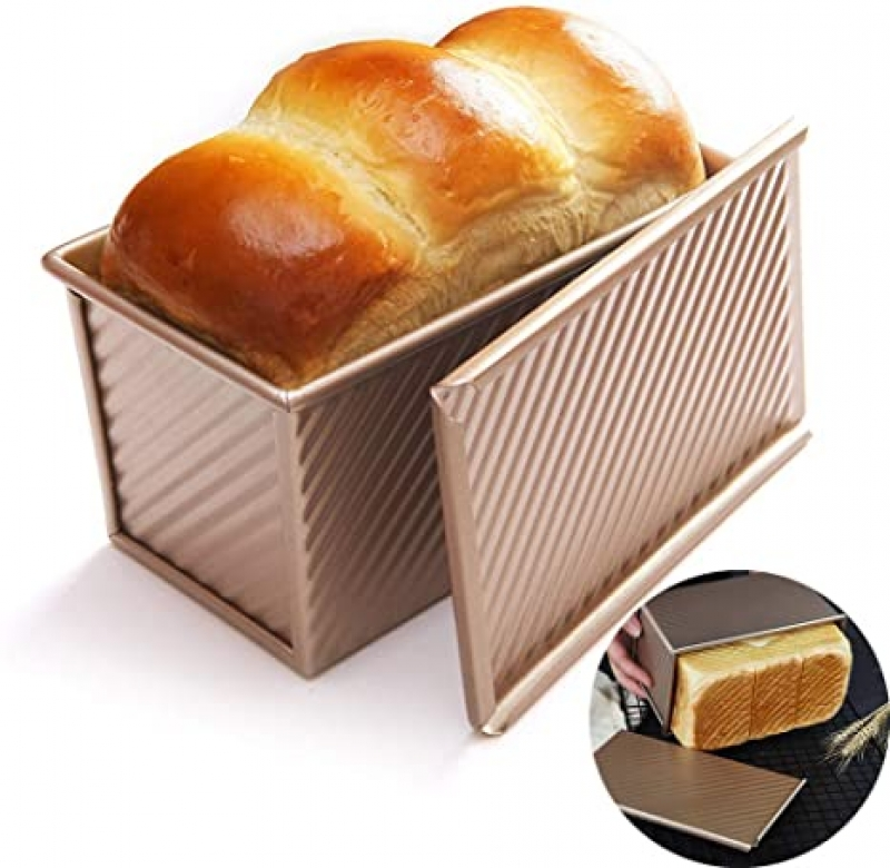 ihocon: WAQIA Loaf Pan with Lid Non-Stick Bakeware Carbon Steel 含蓋不粘吐司模
