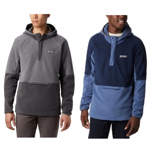 ihocon: Columbia Men's Basin Trail™ 1/2 Snap Fleece Hoodie 男士連帽衫 - 多色可選