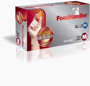ihocon: FoodHandler 102-FH4 FoodHandler Classic, Vinyl, MD, Clear (Pack of 1000) 抛棄式/一次性手套