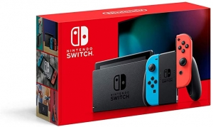 ihocon: Nintendo Switch with Neon Blue and Neon Red Joy‑Con