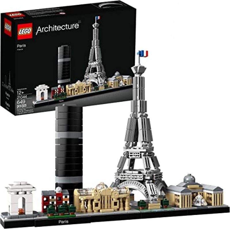 ihocon: 樂高LEGO Architecture Skyline Collection 21044 Paris Skyline Building Kit With Eiffel Tower Model (649 Pieces) 巴黎天際線
