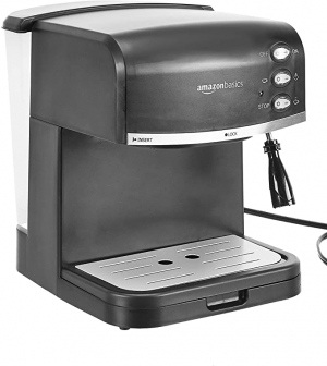 ihocon: AmazonBasics Espresso Machine and Milk Frother 濃縮咖啡機,內建奶泡器