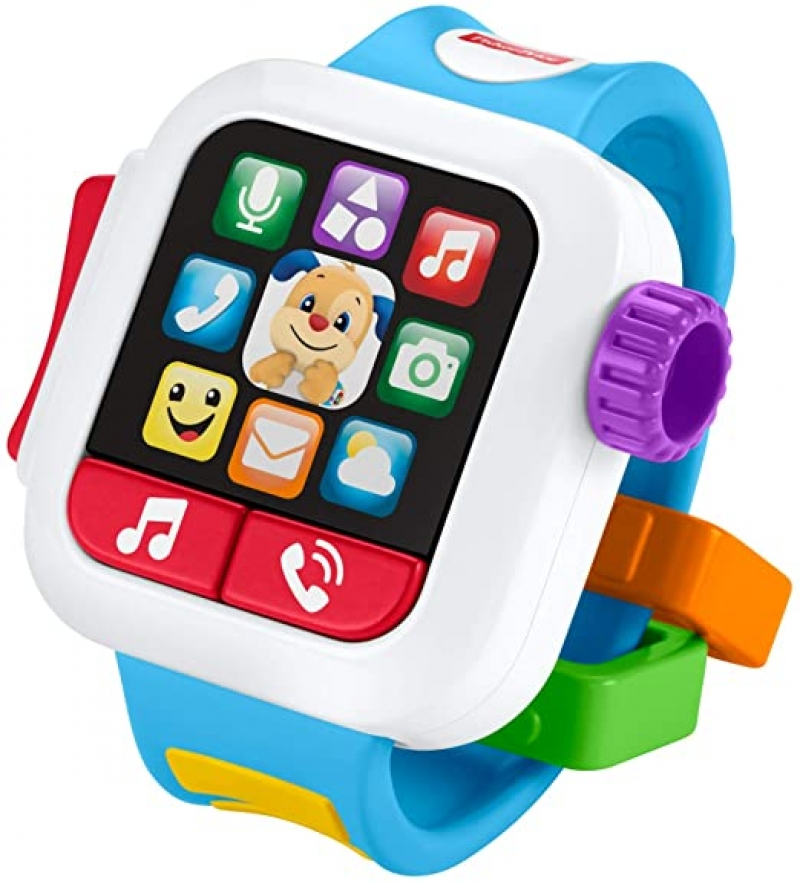 ihocon: Fisher-Price Laugh & Learn Time to Learn Smartwatch, Musical Baby Toy 嬰兒學習玩具錶