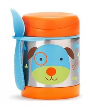 ihocon: Skip Hop Baby Zoo Little Kid and Toddler Insulated Food Jar and Spork Set兒童保温食品罐及湯匙