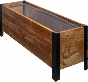 ihocon: AmazonBasics Recycled Wood Rectangular Garden Planter 再生木製矩形花壇