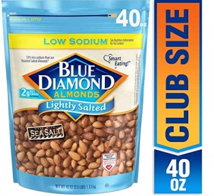 ihocon: Blue Diamond Almonds Low Sodium Lightly Salted, 40 oz