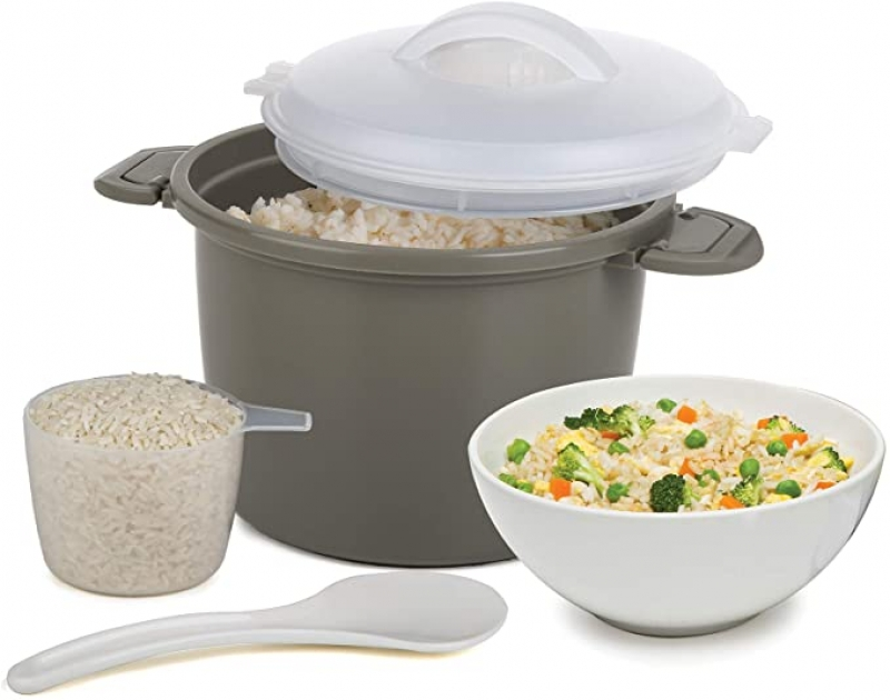 ihocon: Progressive International Set Microwave Rice Cooker, 4 Piece 微波爐煮飯器