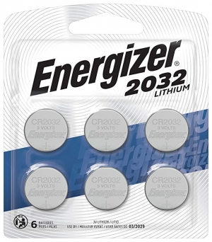 ihocon: Energizer CR2032 Batteries, 3V Lithium Coin Cell 2032 Watch Battery, (6 Count) 鈕釦電池(手錶電池)