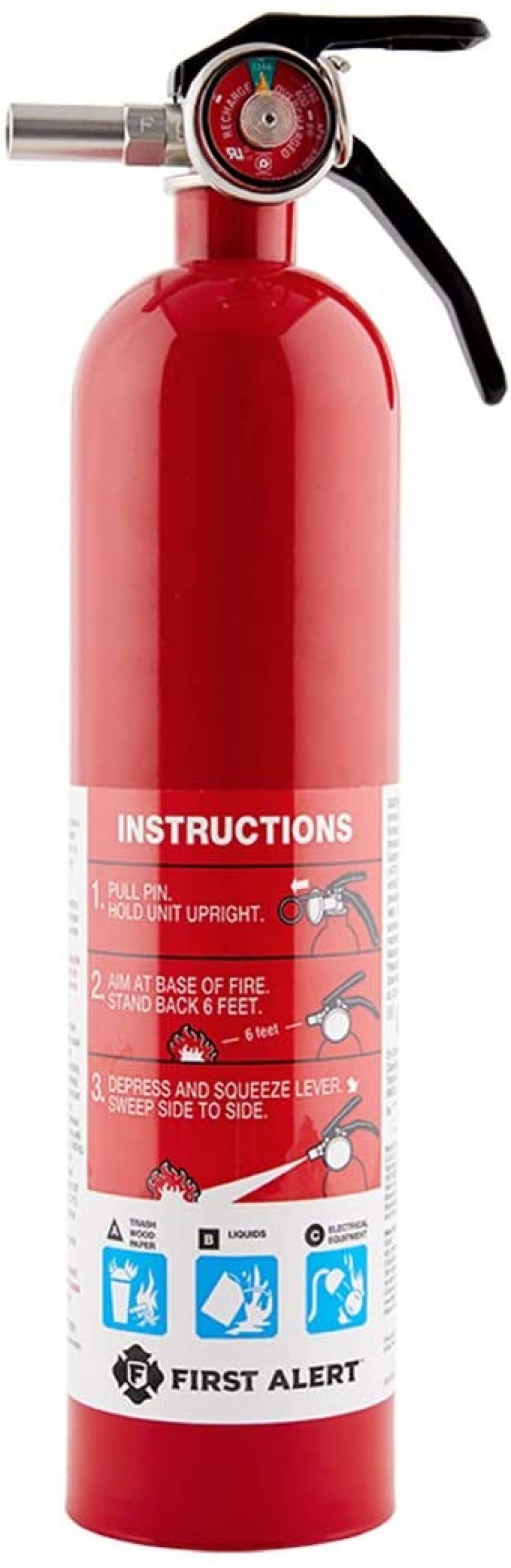 ihocon: FIRST ALERT FE1A10GR195 Standard Home Fire Extinguisher 家用滅火器