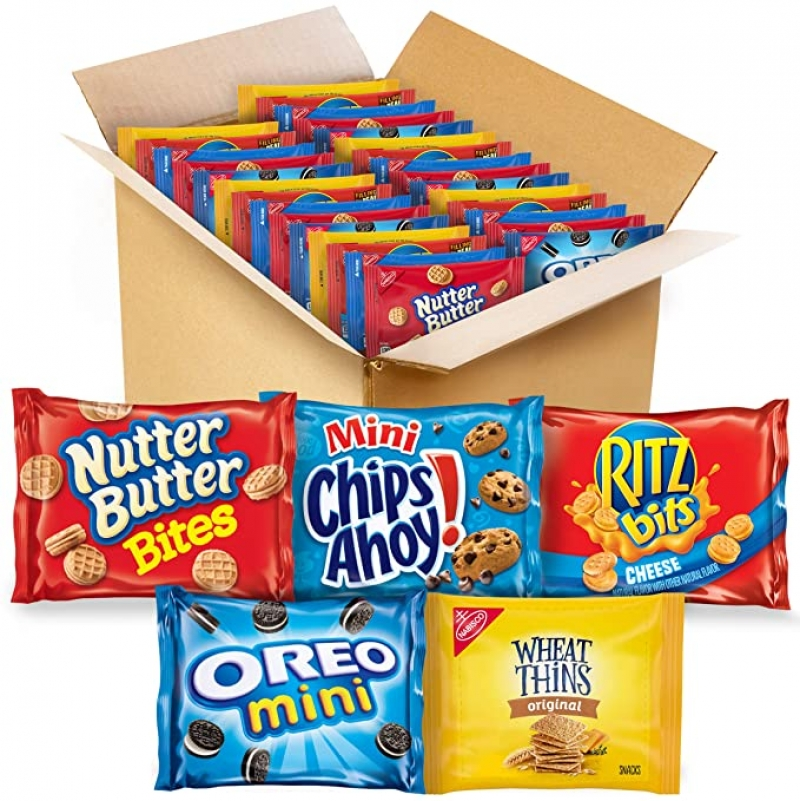 ihocon: OREO, CHIPS AHOY, RITZ, Nutter Butter & Wheat Thins, Nabisco 50 Snack Pack迷你綜合餅乾50包