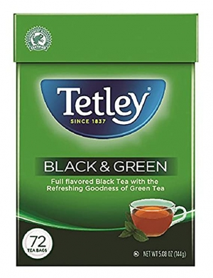 ihocon: Tetley Tea Bags, Black and Green, 72 Count 紅茶加綠茶茶包