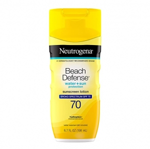 ihocon: Neutrogena Beach Defense Water Resistant Sunscreen Body Lotion with Broad Spectrum SPF 70, Oil-Free and Fast-Absorbing, 6.7 oz 露得清海灘抗水防曬乳